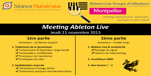 Meeting Ableton Live (21 novembre 2013)